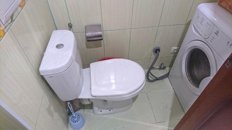 туалет + стиральная машина