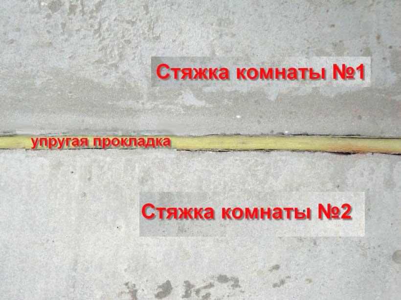 вибро и шумо развязка для пола соседних комнат