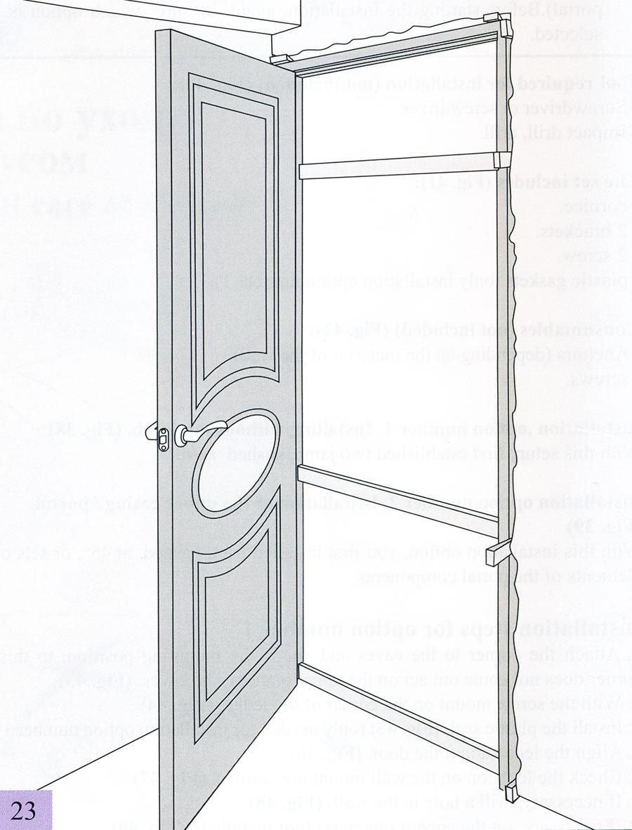 Установка дверного полотна рис 23 24