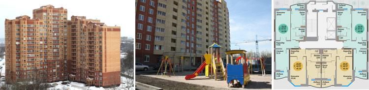 возведённые здания, площадки перед домом, планировка