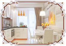 отделка кухни, прихожей