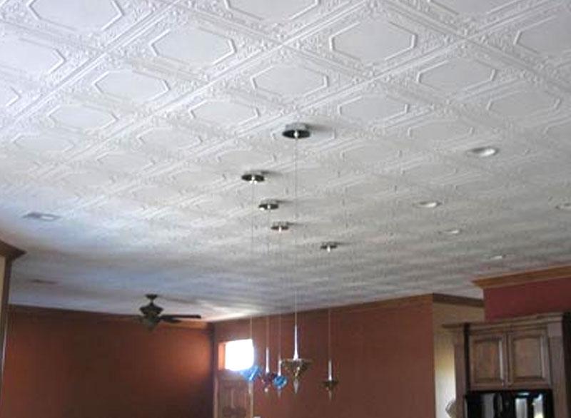 Потолок из пенопластовых плит фото